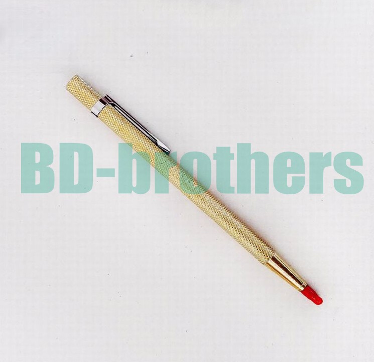 Gold Color Diamond Glass Pen Cutter Lettering Carbide Tipped Scriber for Phone Tablet PC Glass Screen Cutting 50pcs/lot