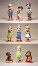 Disney Frozen Anna Moana Prince and Princess 9pcs/set 6 9cm Action Figure Anime Mini Decoration Collection Figurine Toy model
