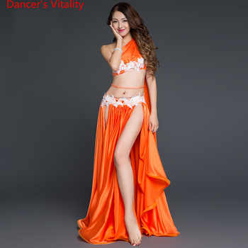 New Arrival Belly Dance Long Skirt Set Sexy Dancer Practice Costume Set Purple White Red Free Shipping - DISCOUNT ITEM  30 OFF Novelty & Special Use