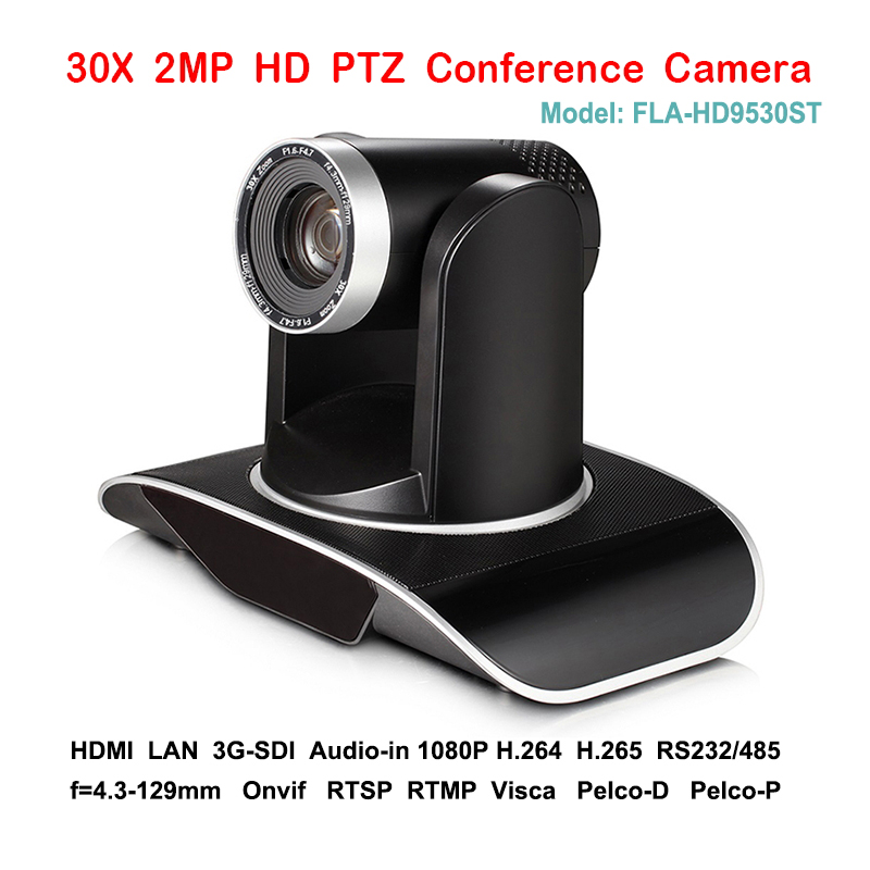 2MP 30X Zoom optique 1080 P 60fps PTZ caméra de diffusion 1080 P 3G-SDI IP DVI pour les systèmes de Communication Audio vidéo