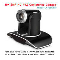 2MP 30X Optical Zoom 1080P 60fps PTZ Broadcast Camera 1080P 3G-SDI IP DVI For Video Audio Communication Systems