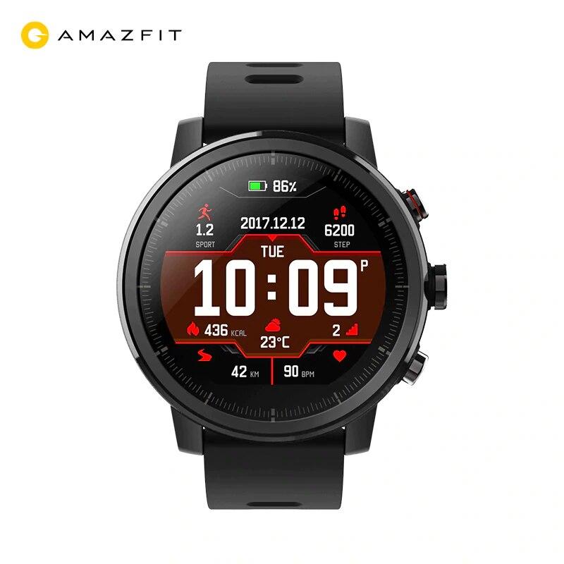 Xiaomi Amazfit Stratos 2 montre intelligente Pace 2 avec GPS moniteur de fréquence cardiaque 50 mètres étanche huami montre intelligente originale