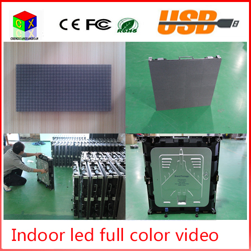 P4 indoor RGB full Color led video wall size 512x512mm led large-screen display sign background synchronization system