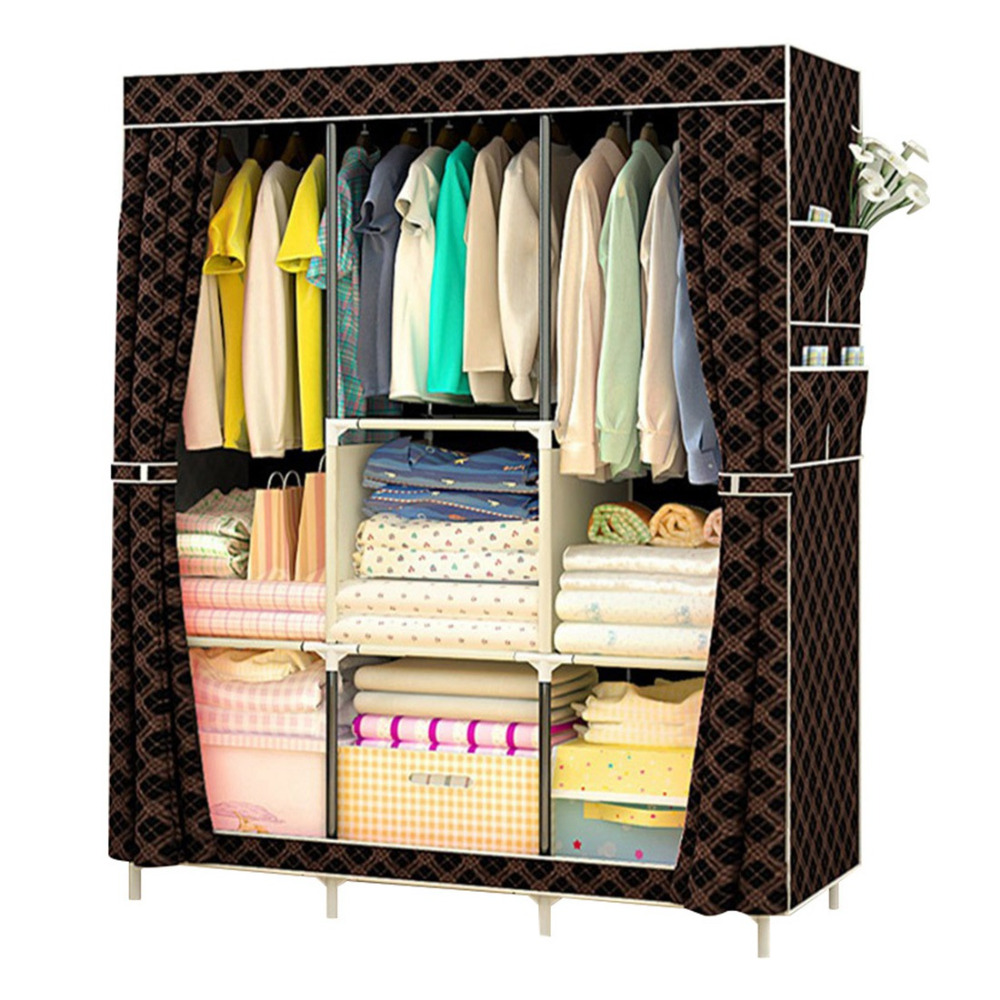 Folding Portable Cabinet DIY Non-Woven Wardrobe Cabinets Bedroom Furniture Dustproof Storage Cabinet Wardrobe Closet living room furniture portable shoe racks folding multilayer non woven fabric combination dustproof shoes shelf