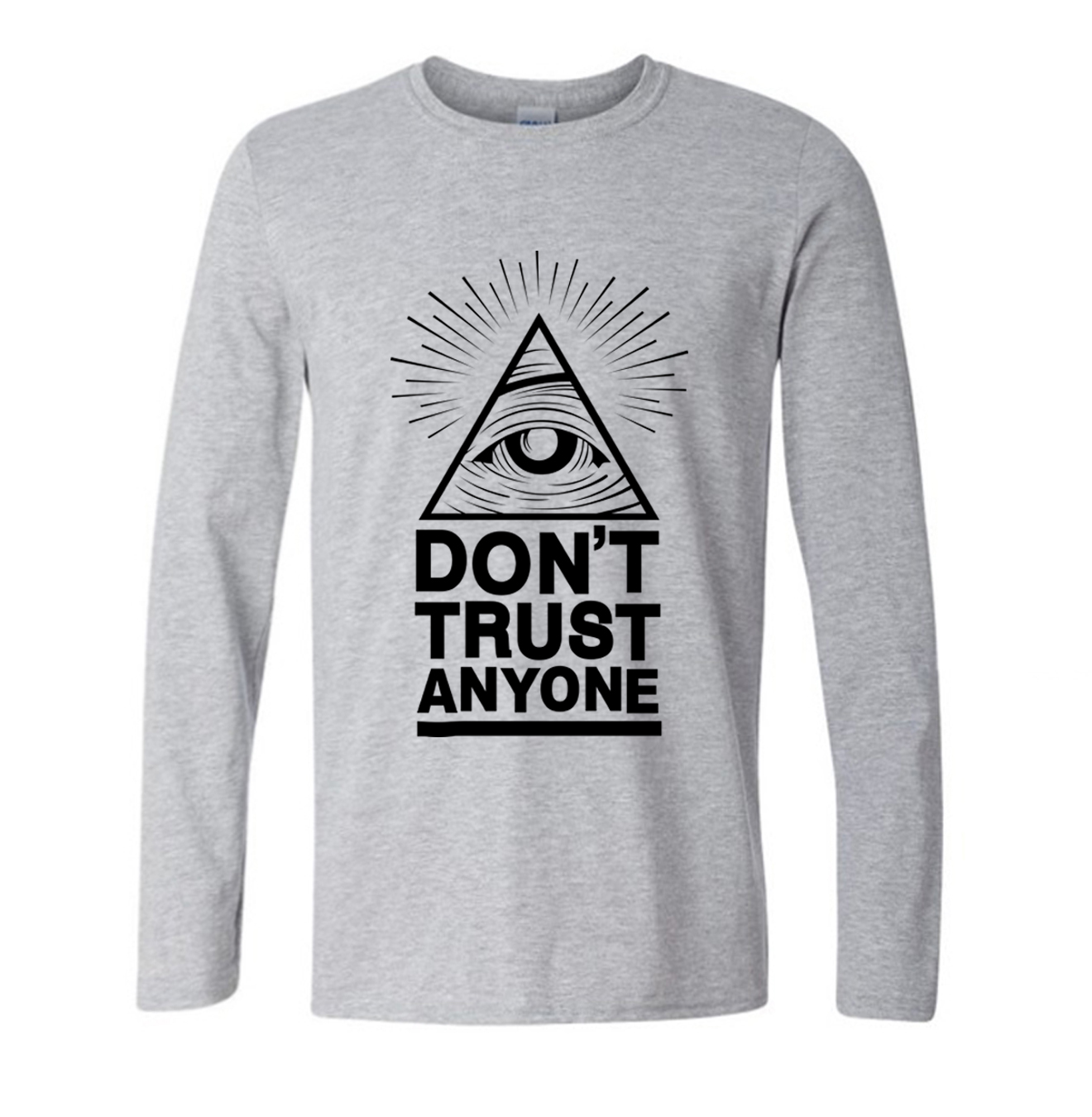 Dont trust anyone illuminati all seeing eye shirt custom for Custom made tee shirts