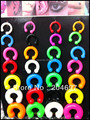 3-12mm Mix 28pcs Colorful Flexible Soft Silicone Balls Horseshoe Ear Expander Plugs Body Piercing Jewelry