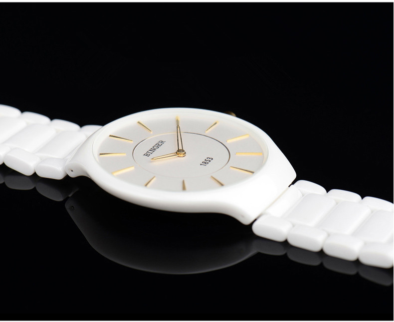 Relógio de Pulso Dos Homens Marca de Moda Preto De Cerâmica 3bar