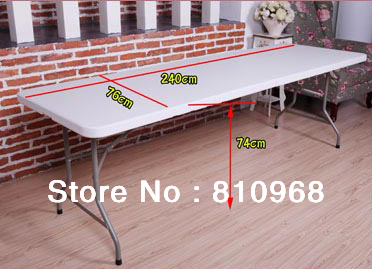 8ft Trade Show Table, High Quality OutsideTable for fair, Exhibition Outdoor Table (can be folded in half) chair for fair exhibition chair outdoor chair can be folded