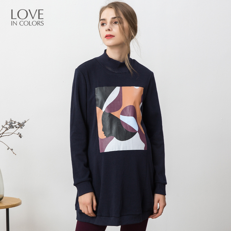 Loveincolors Knitted Cotton Printing Soft Warm Winter Fashion Pullover Thick Pregnant Women Clothes loveincolors new fashion pregnancy women