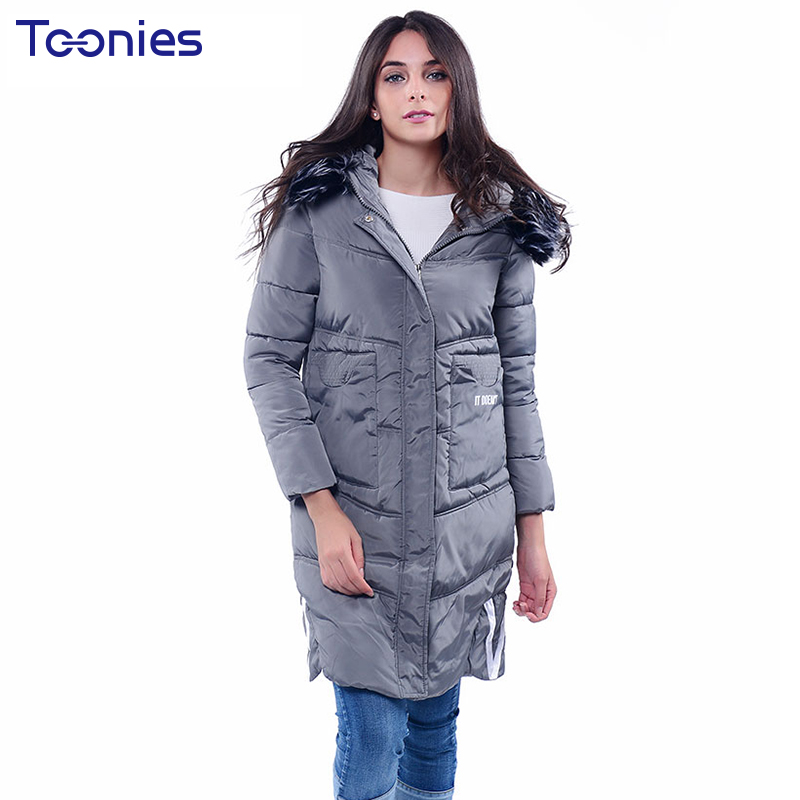 Women Winter Coat Jacket Warm Parkas Fur Hooded Wadded Overcoat Plus Size Outerwear Letter Bomber Jackets Tops Zipper Pockets new arrival parkas winter warm women coat hooded fur collar outerwear female thick wadded jacket spliced casual style overcoat