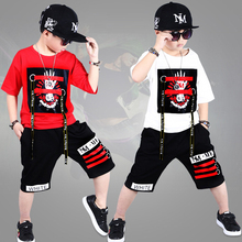 kid Sport Suits Teenage Summer Boys Clothes Set Short Sleeve T Shirt & Pants Casual 4 5 6 7 8 9 10 12 14 Years Child Boy Clothes 2017 new fashion print baby boys t shirt hip hop dance harem pants boy 4 6 8 10 12 14 year sport clothes suits kids clothing set
