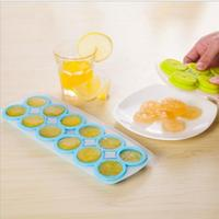 Silicone Ice Cube Creative Lemon Shape Ice Mold Candy Color 12 Grids Ice Cube Tray Thick