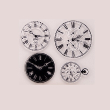 Clock Transparent Clear Silicone Stamp For DIY Scrapbooking Photo Album Decor