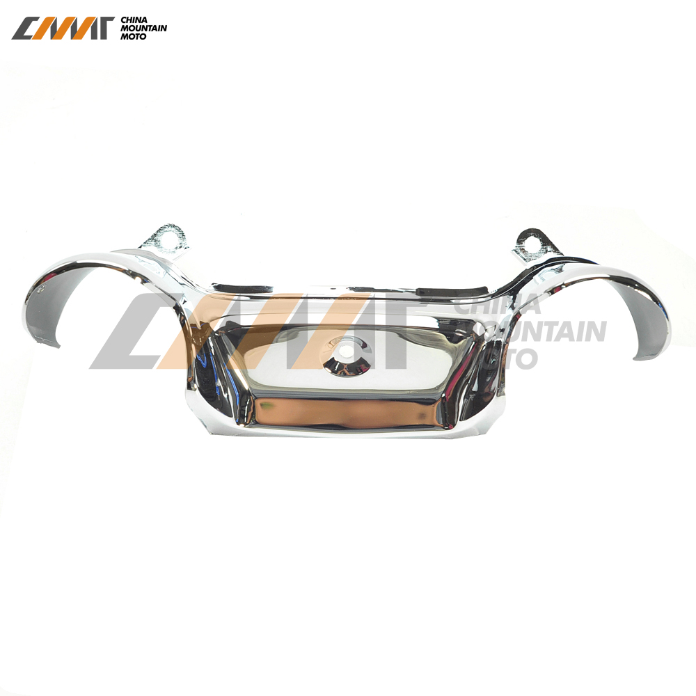 Chrome Front Fork Cover case for Honda GL1800 GOLDWING 2001-2011 chrome motorcycle front fairing headlight lower grill case for honda goldwing 1800 gl1800 2001 2011