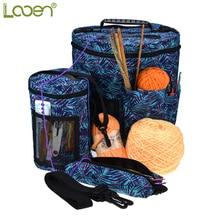 Looen Empty Yarn Storage Bag Organizer For All Crochet Knitting Accessory Tote DIY Sewing
