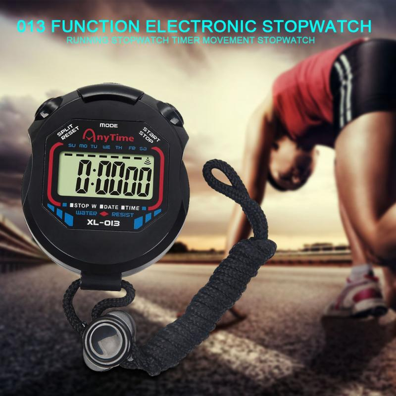New Sale Classic Digital Professional Handheld LCD Chronograph Sports Stopwatch Timer Stop Watch with string