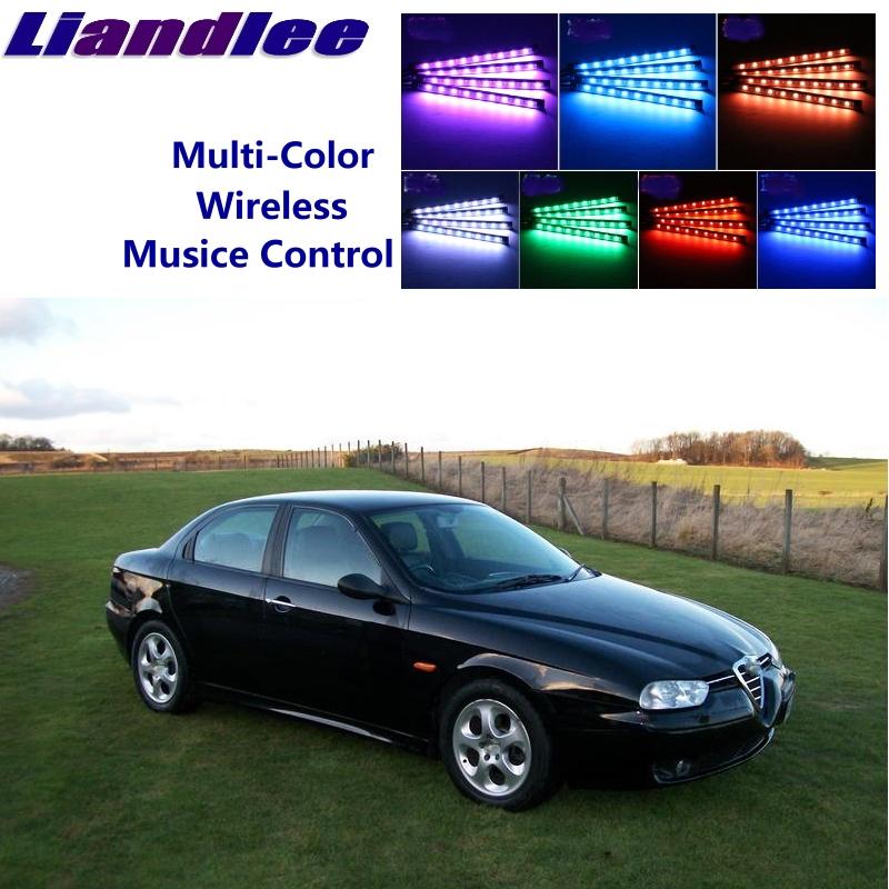Liandlee For Alfa Romeo 156 AR 1997~2007 Car Full Color LED Glow Interior Car Under Dash Foot Floor Seats Accent Lighting