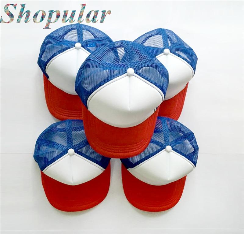 Fashion Red White /& Blue HAT Kids//Adult Trucker Cap ADJUSTABLE  Costume
