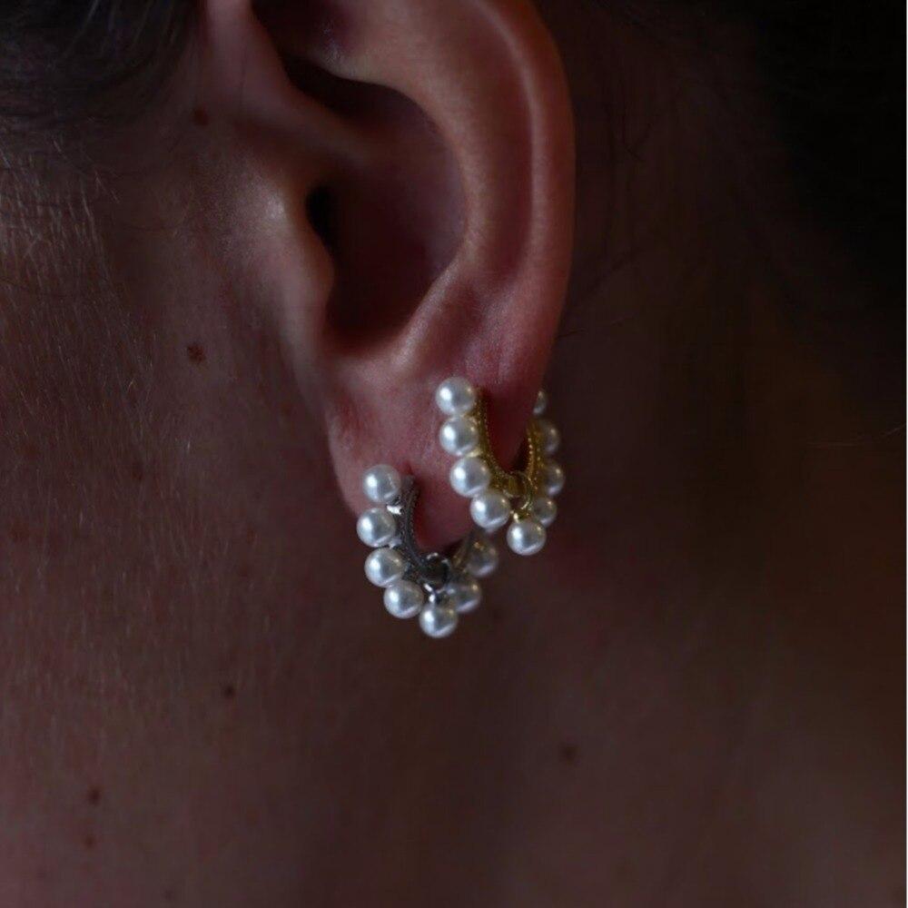 Jewelry & Accessories Earrings Reasonable Brand Classic 9pc Pearl Hoop Earrings For Women Daily Wear White Pink Rose Aaaaa Freshwater Natural Pearl S925 Silver Earrings