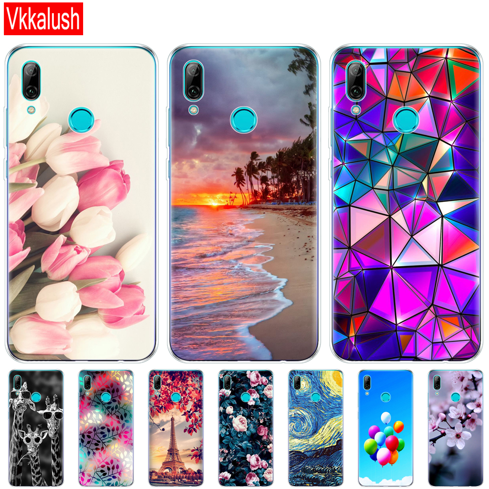 For Huawei P Smart 2019 Cases Silicon Soft TPU Back Dog Cover For Huawei P Smart Plus 2019 Case Cover Huawei P Smart Z Bumper