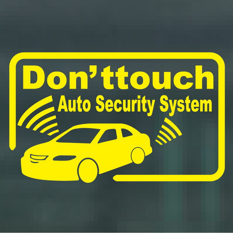 Image result for car alarm sticker