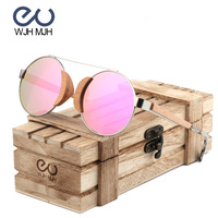 Wood Metal combination Kids sunglasses girls Children Eye wear Stainless Steel Frame with wooden Gift Box OEM Factory direct