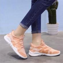 Женская обувь; коллекция года; модная удобная обувь на шнуровке; женские кроссовки из дышащего сетчатого материала; tenis feminino; женская обувь; Размеры 35-40