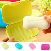 Soap Box Mini Portable Soap Box Creative Cover With Sealed Soap Box Family Kitchen Bathroom Supplies