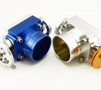 Blue silver 70mm Throttle Body Performance Intake Manifold Billet Aluminum High Flow Universal Jdm