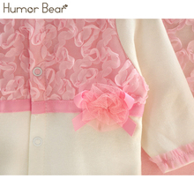Humor Bear Princess Style Newborn Baby Girl Clothes Girls Lace Rompers+Hats Baby Clothing Sets Infant Jumpsuit Gifts