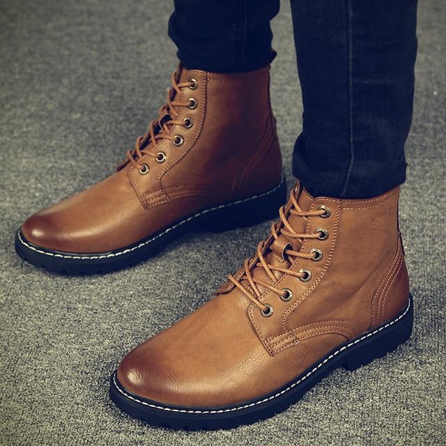 Sıcak Erkekler Kış Çizmeler için Adam Sıcak Su Geçirmez yağmur çizmeleri Ayakkabı 2018 Yeni erkek Ayak Bileği kar botu Çizmeler Moda erkekler Kış ayakkabı k4