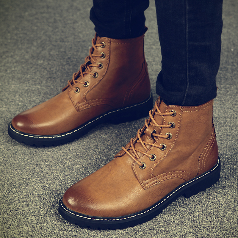 Warm Men Winter Boots for Man Warm Waterproof Rain Boots Shoes 2018 New Men's Ankle Snow Boot Boots Fashion men Winter Shoes k4 цена