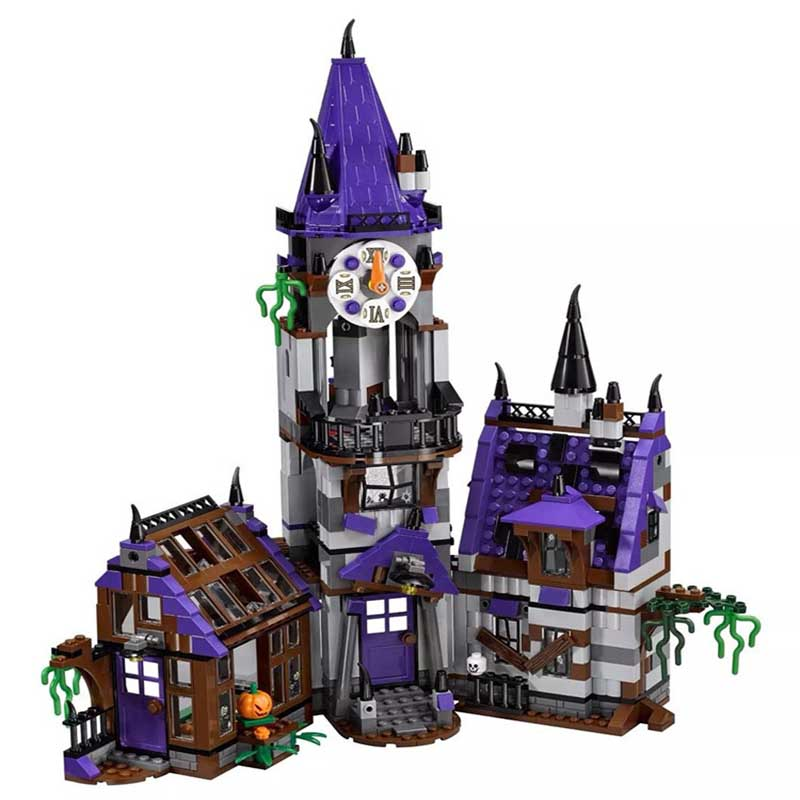 Mystery Mansion 75904 Building Blocks Model Educational Toy For Children BELA 10432 Scooby Doo Bricks ynynoo 305pcs 10430 the mystery machine scooby doo fred shaggy zombie zeke toys building blocks christmas gift sa562