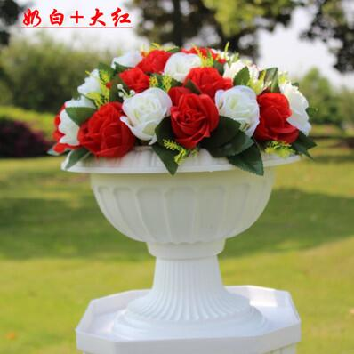 Wholesale Wedding Or Event Decoration 37 Head Fabric Rose Flower