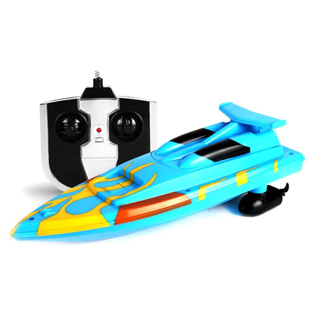 Скоростная лодка гоночная лодка на дистанционном управлении лодка пластиковая многоцветная Rc речная бассейн на открытом воздухе модная скоростной катер р/у гоночная игрушка - Цвет: bliue
