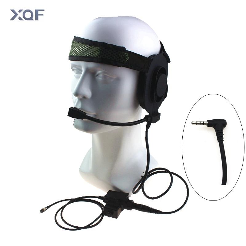 Tactical Bowman Elite II Radio Headset Earpiece With U94 Style PTT For Walkie Talkie Yaesu Vertex VX-3R VX-110 FT-10R Radio