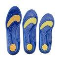 Macia flexível de Silicone palmilha almofada do pé calcanhar grosso sapatos Massageando almofada de amortecimento de absorção de choque Palmilhas esportivas absorver o suor