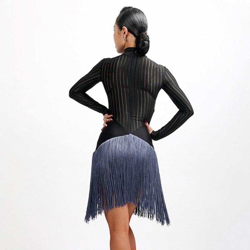 Picture of Women Latin Dance Dresses For Sale Samba Costume Latin Salsa Dress Transparent Latin Dress Tango Dance Wear Dance Costuemes