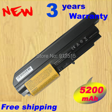 High quality 5200mAh Laptop font b Battery b font For IBM Lenovo ThinkPad T400 R400 41U3198