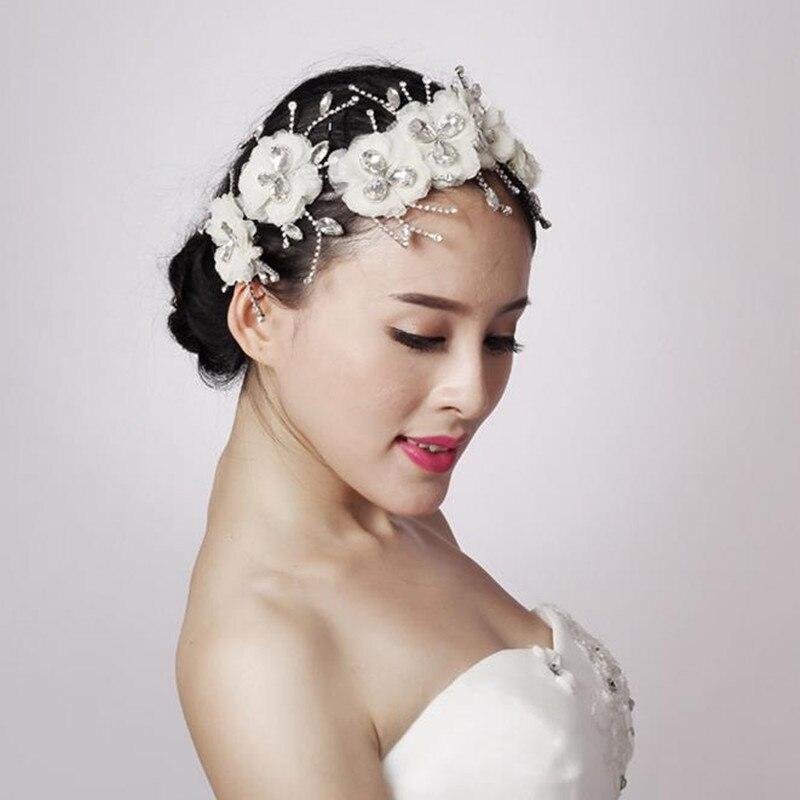 Wedding Hairstyles With Tiara: 2017 Elegant Boutique Flower Shape Rhinestone Wedding