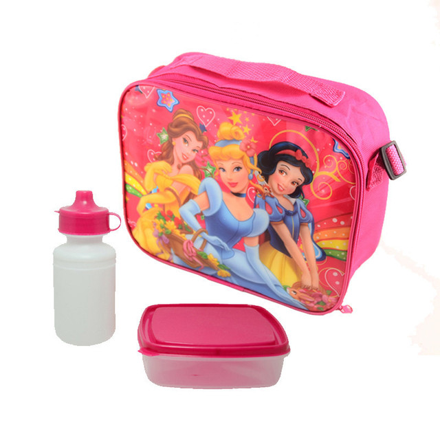 Princess Bags Cartoon Kids Lunch Bag Cooler Thermal Insulated Box For Boys