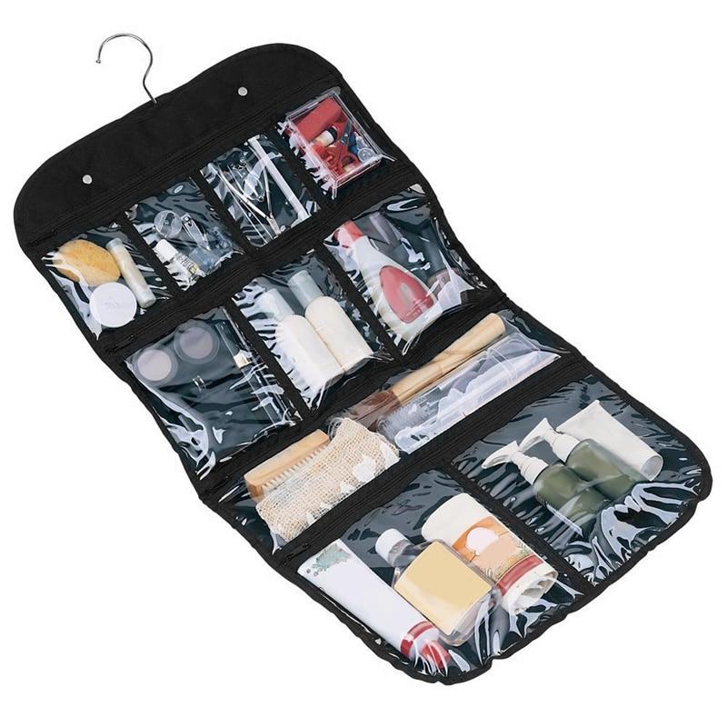 PVC Transparent Wash Portable Organizer Case Cosmetic Makeup Zipper Bathroom Jewelry Hanging Bag Travel home Toilet Bag