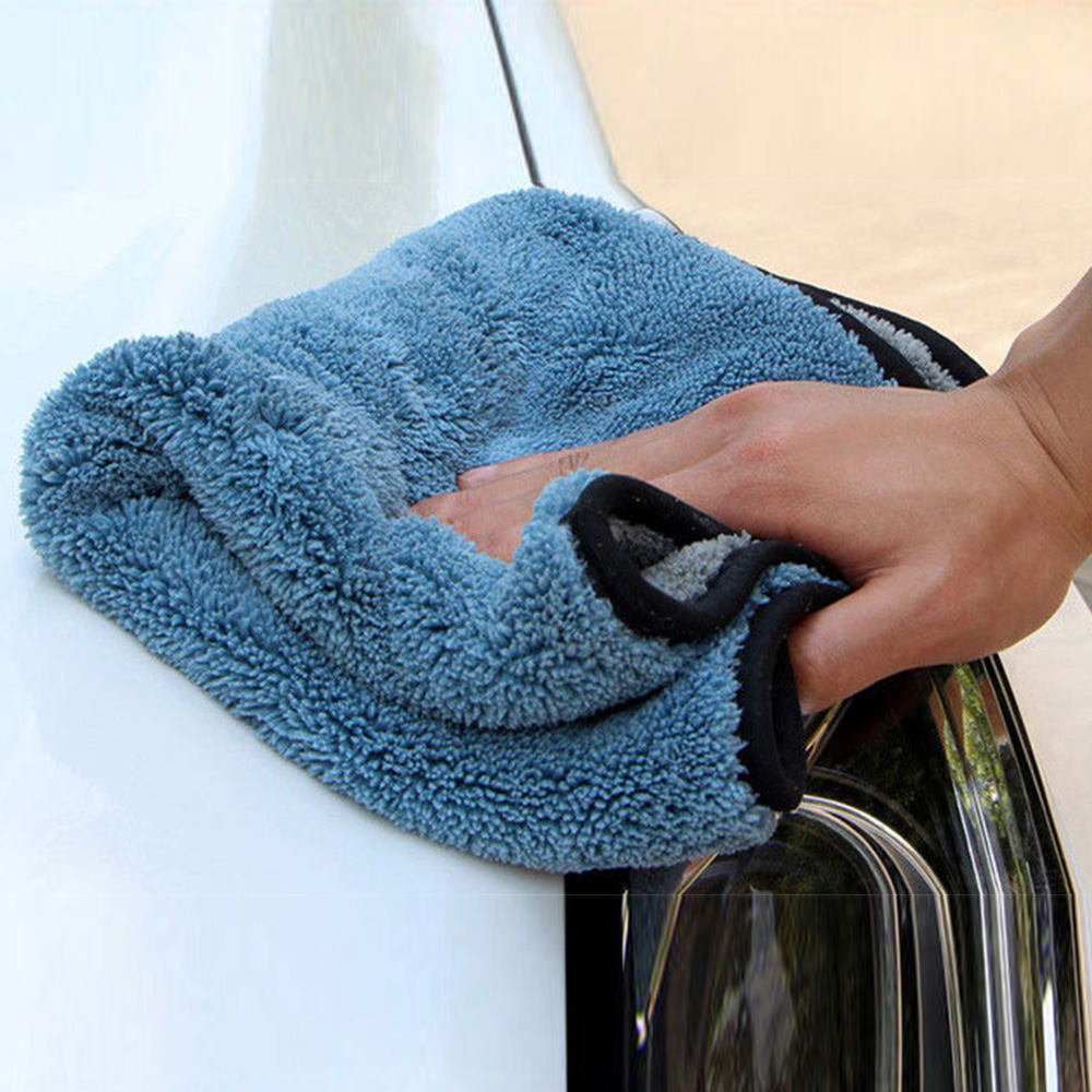Super Absorbent Car Wash Microfiber Towel Car Cleaning Drying Cloth Large Size 45*38cm Hemming Car Care Cloth Detailing Towel