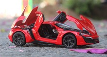 YUKALA 1:32 kids toys Fast & Furious 7 Hypersport Mini metal toy cars model pull back car miniatures gifts for boys children
