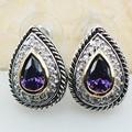 Amethyst 925 Sterling Silver Earrings TE620