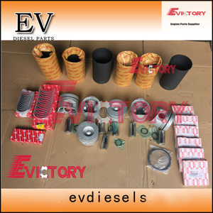 Para kit de reconstrucción de motor Isuzu 6HH1 6HH1T, con revestimiento de cilindro para anillo, Junta completa + cigüeñal y rodamiento de varilla