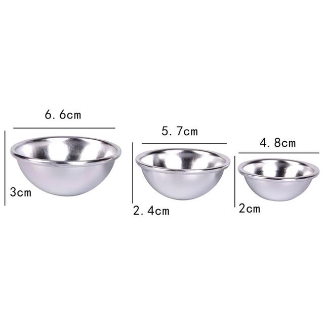 JETTING 6pcs/pack  3D Ball Sphere  Bombs Metal Aluminum Alloy Bath Bomb Mold DIY Bathing Tool Accessories Creative Mold 5