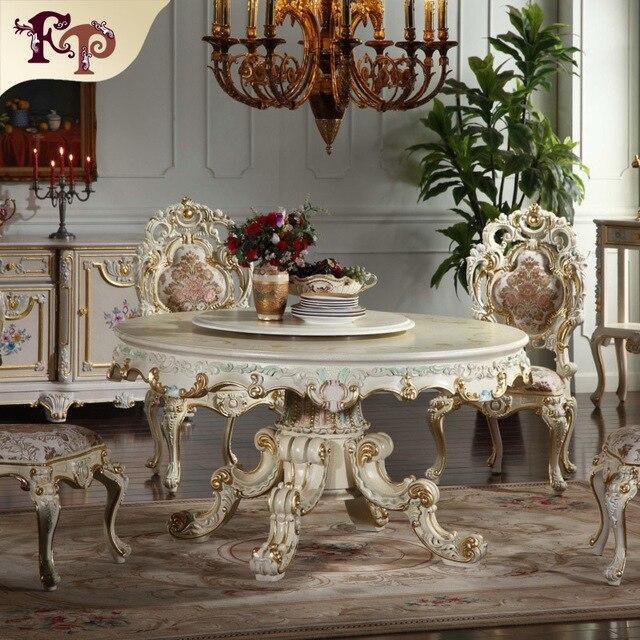 Французский антикварная мебель-круглая форма обеденный стол dinging мебель Классическая мебель производителя