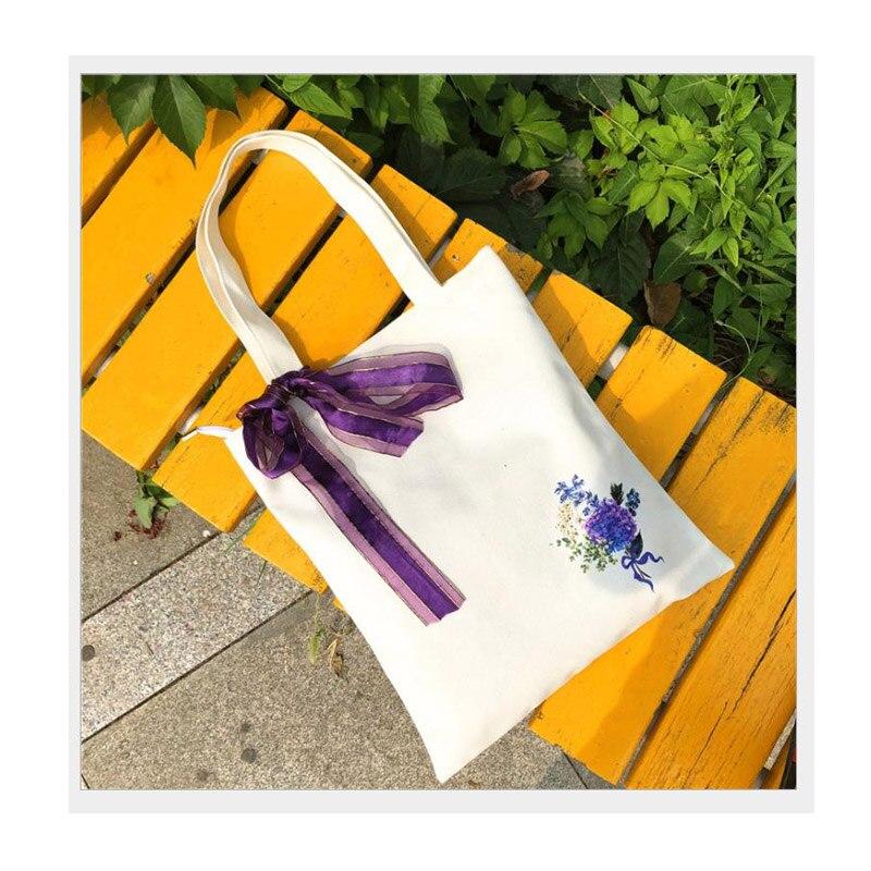 New hot sale canvas ladies handbag mini shoulder bag printing casual fashion cloth