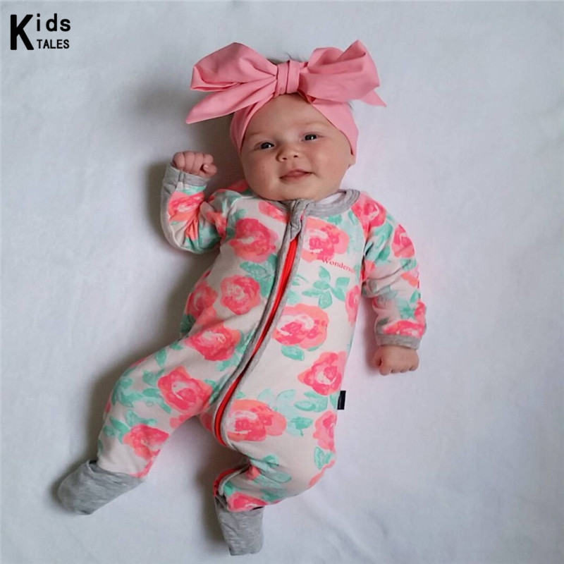Autumn Spring 2019 New Baby Clothing Girl Jumpsuit Romper Suit Kids Pajamas Bebes